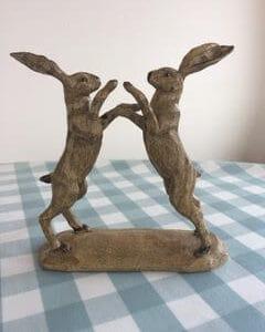Dancing Hares Ornament