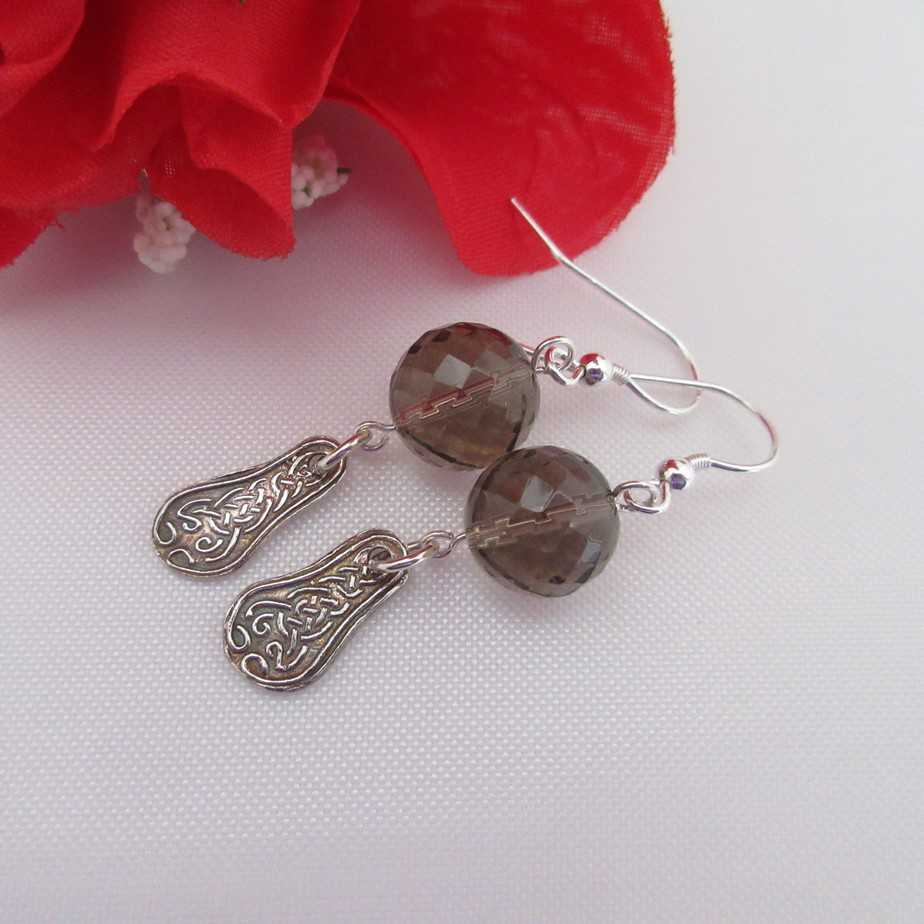 Handcrafted Silver Celtic Earrings