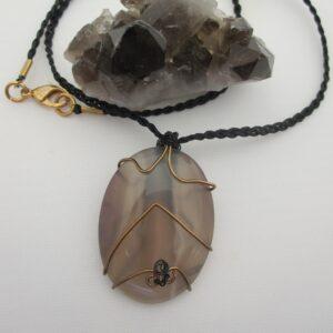Grey Agate Pendant by Indigo Berry