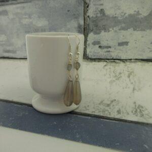 Grey Agate Drop Earrings by Indigo Berry