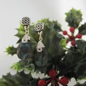 Celtic Style Earrings with Labradorite by Indigo Berry