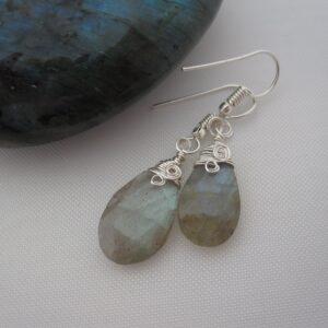 Labradorite Earrings by Indigo Berry