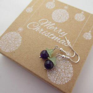 Purple Berry Earrings by Indigo Berry
