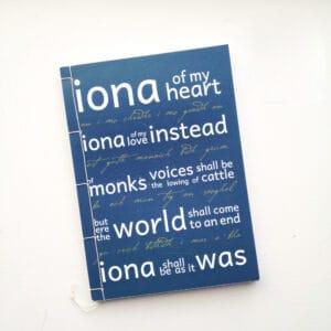 Isle of Iona blank book