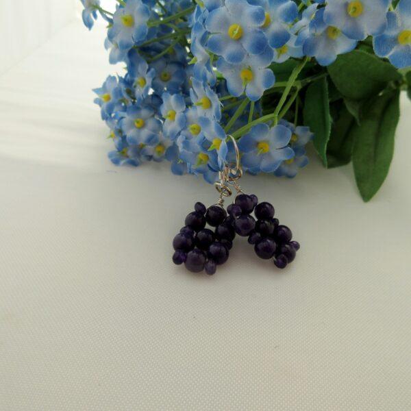 Purple Heather Amethyst Earrings by Indigo Berry