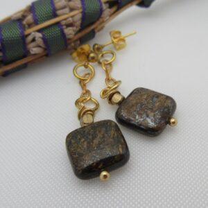 Bronzite Earrings by Indigo Berry