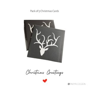 Pack of 5 Stags Head Cards