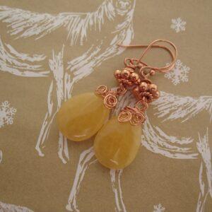 Honey Quartz Earrings by Indigo Berry