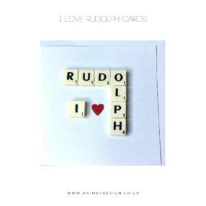 I Love Rudolph Card by AniMac Design