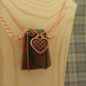 Celtic Heart Necklace with Jasper by Indigo Berry
