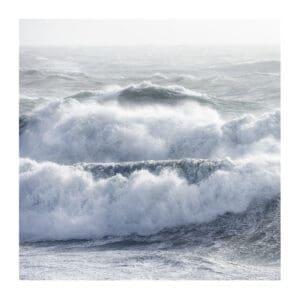 Hebrides art print of ocean waves