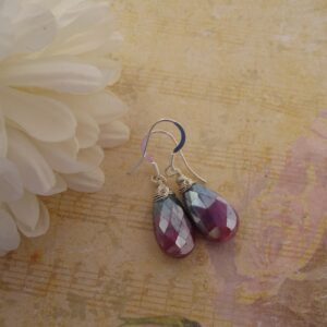 Pink Moonstone Earrings by Indigo Berry