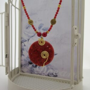 Red Coral Necklace by Indigo Berry