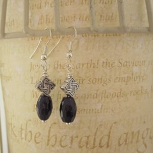 Purple Quartzite Celtic Drop Earrings by Indigo Berry