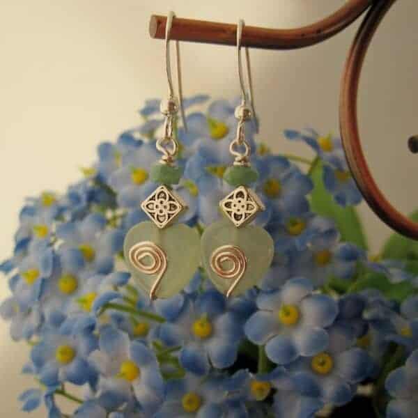 Aventurine and Emerald Earrings by Indigo Berry