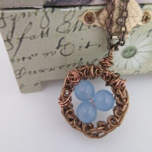 Blue Quartz Nest Pendant by Indigo Berry
