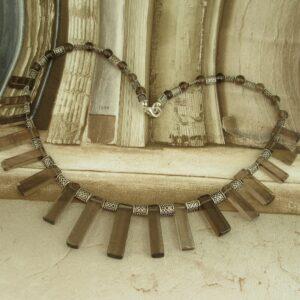 Smokey Quartz Celtic Necklace by Indigo Berry