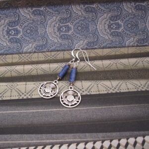 Thistle Earrings with Sodalite by Indigo Berry