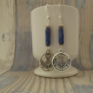 Sodalite and Thistle Earrings by Indigo Berry