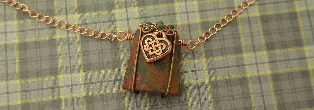 Celtic Heart Necklace by Indigo Berry