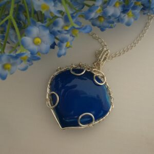 Blue Agate Pendant by Indigo Berry