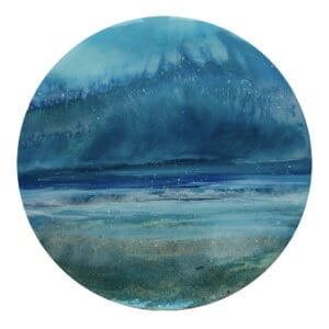 Seascape resin painting