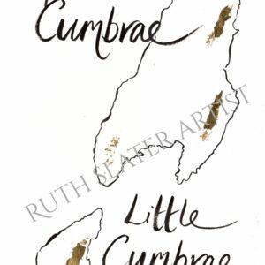 Isle of Cumbrae Original with Gold Leaf