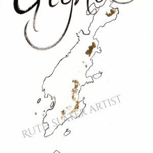 Isle of Gigha with Gold Leaf