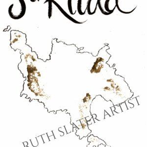 St. Kilda Map with Gold Leaf