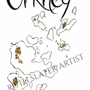 Orkney Isles with Gold Leaf