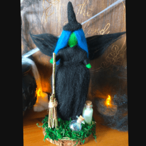 witch halloween decoration